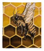 Busy As A Bee Fleece Blanket
