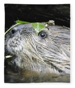 Busy Beaver Fleece Blanket