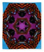 Busy  Bee Kaleidoscope Fleece Blanket