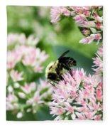 Busy Bumble Bee Fleece Blanket