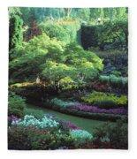 Butchard Gardens Vancouver Island Fleece Blanket
