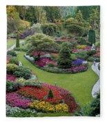 Butchart Gardens Fleece Blanket