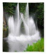 Butchart Gardens Waterfalls Fleece Blanket