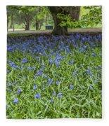 Bute Park Bluebells Fleece Blanket