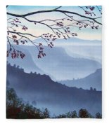 Butte Creek Canyon Mural Fleece Blanket