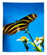 Butterflies And Blue Skies Fleece Blanket