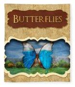 Butterflies Button Fleece Blanket