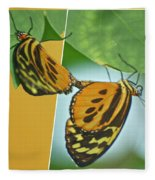 Butterflies Mating Out Of Bounds Fleece Blanket