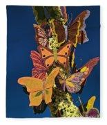 Butterflies On A 2015 Rose Parade Float 15rp047 Fleece Blanket