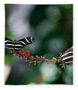 Butterflies On A Wire C Fleece Blanket