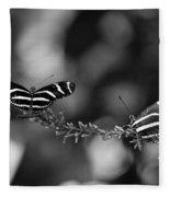 Butterflies On A Wire Fleece Blanket