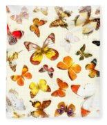 Butterflies Square Fleece Blanket