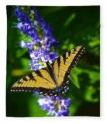 Butterflly Bush And The Swallowtail Fleece Blanket