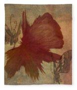 Butterflower Fleece Blanket