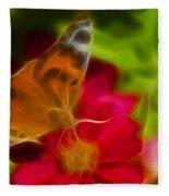 Butterfly-5430-fractal Fleece Blanket