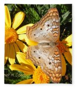 Butterfly And Daisies Fleece Blanket