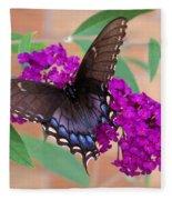 Butterfly And Friend Fleece Blanket