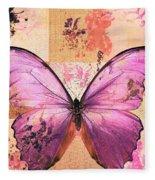 Butterfly Art - Sr51a Fleece Blanket