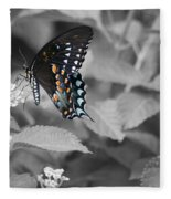 Butterfly Art Wings Together Fleece Blanket