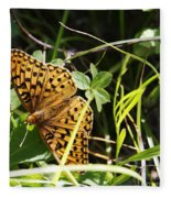 Butterfly At Signal Mountain Fleece Blanket