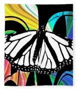 Butterfly Abstract Wall Art Decor Fleece Blanket