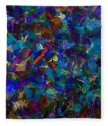 Butterfly Collage Blue Fleece Blanket