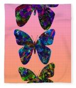 Butterfly Collage IIII Fleece Blanket