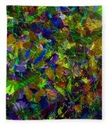 Butterfly Collage Yellow Fleece Blanket