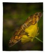 Butterfly Fan Fleece Blanket