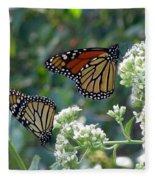 Butterfly Garden - Monarchs 01 Fleece Blanket