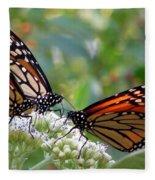 Butterfly Garden - Monarchs 17 Fleece Blanket