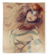 Butterfly Girl Fleece Blanket