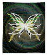 Butterfly Glow Fleece Blanket