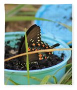 Butterfly In A Cup Fleece Blanket