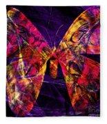 Butterfly In Abstract Dsc2977 Square Fleece Blanket