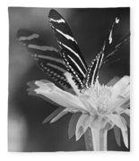 Butterfly In Motion #1952bw Fleece Blanket
