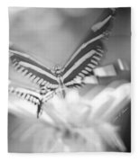 Butterfly In Motion #1961bw Fleece Blanket