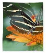 Butterfly In Motion #1968 Fleece Blanket