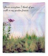 Butterfly In My Garden Fleece Blanket
