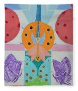 Butterfly Kisses And Ladybug Hugs Fleece Blanket