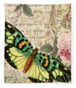 Butterfly Kisses-b Fleece Blanket