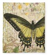 Butterfly Kisses-c Fleece Blanket