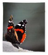 Butterfly Landing Fleece Blanket