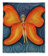 Butterfly Mantra Fleece Blanket
