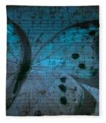 Butterfly Midnight Symphony Fleece Blanket