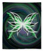 Butterfly Oil Painting Fleece Blanket