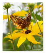 Butterfly On Blackeyed Susan Fleece Blanket