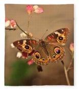 Butterfly On Pink Fleece Blanket