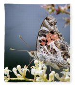 Butterfly - Painted Lady - Tasty Out Here Fleece Blanket
