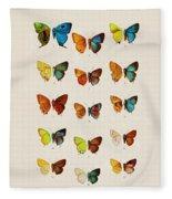 Butterfly Plate Fleece Blanket